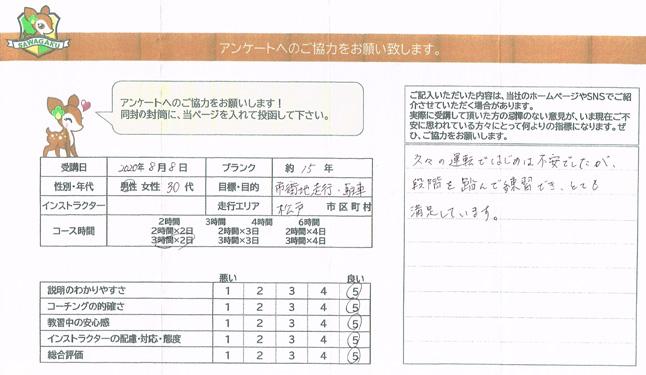 松戸市(30代男性)お客様アンケート